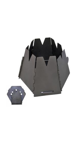 Vargo Hexagon træovn Campingkoger Titan grå/sort